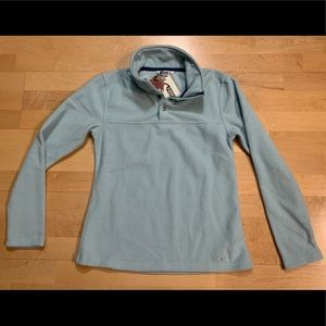 NEW Mountain Khakis Teal Fleece Pop Top Pullover